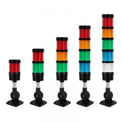 "Modular LED Signal Tower Stack Lights - 2.4"" Diameter - Adjustable Mount with 50mm Pole"
