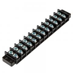 12 Position Barrier Terminal Block - 14-22 AWG