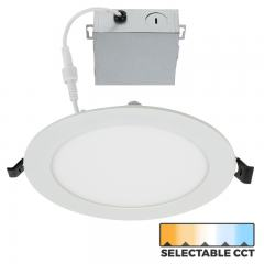 "6"" Ultra-Thin LED Recessed Downlight - Selectable CCT - 2700K/3000K/3500K/4000K/5000K - 75 Watt Equivalent - 900 Lumens"