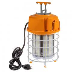 100W LED Temporary High Bay - Linkable LED Area Work Light Fixture - 320W Equivalent - 12500 Lumens - 5000K