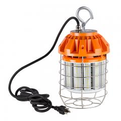 80 Watt Temporary LED Job Site Light w/ Power Cord and Safety Hook - 5000K - 8,500 Lumens
