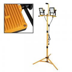 100W Dual Head Portable LED Work Light with Tripod - 10000 Lumens - Cosmetic Blemish