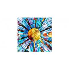Skylens® Fluorescent Light Diffuser - Glass Planets Decorative Light Cover - 2' x 2'