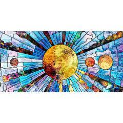 Skylens® Fluorescent Light Diffuser - Glass Planets Decorative Light Cover - 2' x 4'
