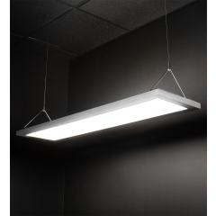Dimmable 54W Up/Down LED Panel Light Fixture - Semitransparent - 1x4 - 5,400 Lumens - Suspended Mount