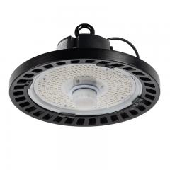 100W Black UFO LED High Bay Light - Programmable Motion Sensor - 15500 Lumens - 320W MH Equivalent - 5000K