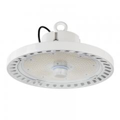 200W White UFO LED High Bay Light - Programmable Motion Sensor - 30000 Lumens - 750W MH Equivalent - 5000K
