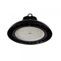 150W Black UFO LED High Bay Light - 19500 Lumens - 400W Metal Halide Equivalent - 5000K/4000K