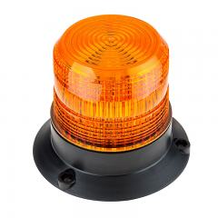 "4-3/4"" Amber LED Strobe Light Beacon - Double Flash Pattern"