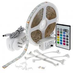 Outdoor RGB LED Strip Light Kit - Weatherproof 12V LED Tape Light - 34 Lumens/ft.