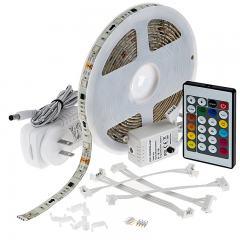 Outdoor RGB LED Strip Light Kit - Color Chasing 12V LED Tape Light - Weatherproof - 16 Lumens/ft.