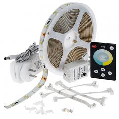 Outdoor Tunable White LED Strip Light Kit - Color Temperature Changing 12V LED Tape Light - Weatherproof - 65 Lumens/ft.