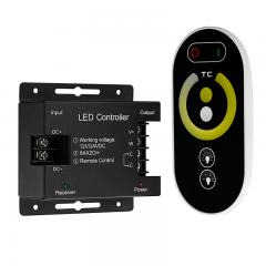 Tunable White LED Controller - Wireless RF Touch Color Remote - 6 Amps/Channel