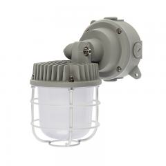 30W Aluminum Vapor Tight LED Jelly Jar Light - 3750 Lumens - Caged Wall/Ceiling Mount Light - 5000K