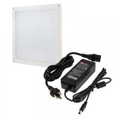Square LED Panel Light High Voltage Kit - Vehicle and Trailer 12V LED Task Light - 6in x 6in - 412 Lumens - Flush Mount