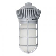 20W Vapor Tight LED Jelly Jar Light - 1,800 Lumens - Caged Pendant Mount Light - Natural White 4000K