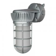 20W Vapor Tight LED Jelly Jar Light - 1,800 Lumens - Caged Wall Mount Light - 5000K/4000K