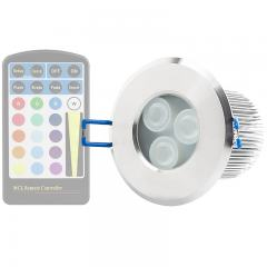 RGB LED Downlight - Waterproof Recessed LED Light (Remote Sold Separately) - 40 Watt Equivalent - 350 Lumens