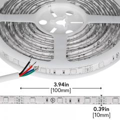 Outdoor LED Light Strips with RGB LEDs - Weatherproof LED Tape Light with 9 SMDs/ft. - 3 Chip RGB SMD LED 5050 - 63 Lumens/ft.