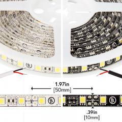 5050 Outdoor Single-Color LED Strip Light/Tape Light - 12V - Weatherproof IP66 - 226 Lumens/ft