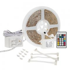Outdoor RGB LED Strip Light Kit - Weatherproof 12V LED Tape Light - 34 Lumens/ft.