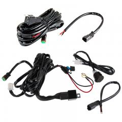LED Light Wiring Harness Pair with Switch and Relay - DT Connector - Single Channel