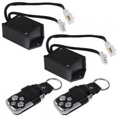Wireless Remote Control Switches with Key Fobs for Wire Harness Pairs