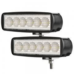 "LED Auxiliary Light - 5.5"" Rectangle 18W Heavy Duty Off Road Driving Light"