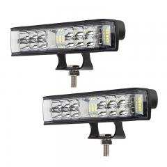 """6"""" Linear Side Shooter Off-Road LED Driving Light - Combo Spot/Flood - 20W - 2,750 Lumens - 2 Pack"""