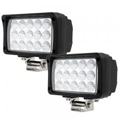 """LED Auxiliary Light - 6"""" Rectangular 45W Heavy Duty Off Road Driving Light"""