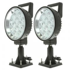 """Off-Road LED Work Light - 6"""" Round Adjustable Spot Light w/ Handle and Integrated Switch - 15W - 1,350 Lumens"""