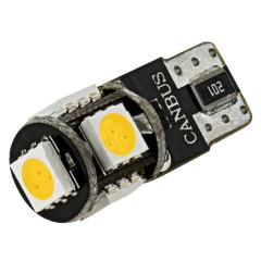 194 CAN Bus LED RV Light Bulb - 5 SMD LED Tower - Miniature Wedge Retrofit - 85 Lumens - Warm White