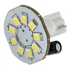 921 LED Bulb - 9 SMD LED Disc - Miniature Wedge Base