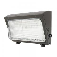 40W LED Wall Pack - Integrated Photocell - 5200 Lumens - Glass Lens - 175W MH Equivalent - 5000K