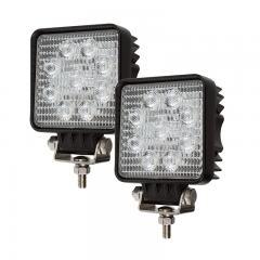 "LED Light Pods - 4"" Square Mini LED Work Lights - 22W - 1,600 Lumens - 2 Pack"