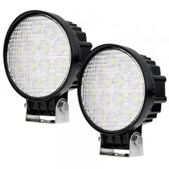 """Off-Road LED Work Light/LED Driving Light w/ Push-Button Switch - 5"""" Round - 25W - 1,400 Lumens"""