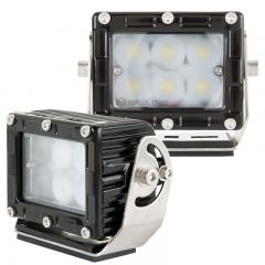 "Heavy-Duty LED Work Light w/ Extreme Vibration Resistant Mount - 4"" Square - 26W - 2,000 Lumens"