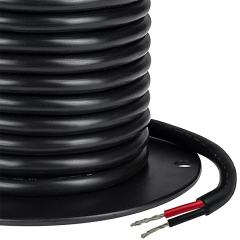 Black Jacketed 14 Gauge Wire - Two Conductor Power Wire