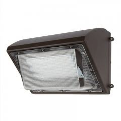80W LED Wall Pack with Bypassable Photocell - 10000 Lumens - 400W MH Equivalent - 5000K/4000K