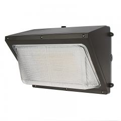 40W LED Wall Pack with Photocell - 6,000 Lumens - Glass Lens - 250W Metal Halide Equivalent - 5000K/4000K