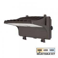 40W Selectable CCT LED Full Cutoff Wall Pack - 5,200 Lumens - 250W MH Equivalent - 3000K/4000K/5000K