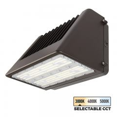 120W Selectable CCT Full Cutoff LED Wall Pack - Bypassable Photocell - 14400 Lumens - 400W MH Equivalent