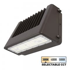 80W Selectable CCT Full Cutoff LED Wall Pack - Bypassable Photocell - 9600 Lumens - 400W MH Equivalent