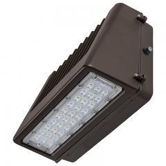 40W Full Cutoff LED Wall Pack with Photocell - 4800 Lumens - 250W Metal Halide Equivalent - 5000K/4000K