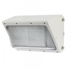 120W LED Wall Pack - 400W Metal Halide Equivalent - White - Glass Lens - 12000 Lumens - 5000K