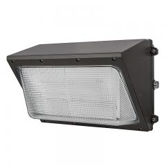 100W LED Wall Pack w/ Integrated Photocell - 10,000 Lumens - Glass Lens - 400W Metal Halide Equivalent - 5000K