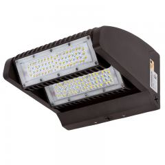 80W Rotatable LED Wall Pack - 10,700 Lumens - 400W Metal Halide Equivalent - 4000K