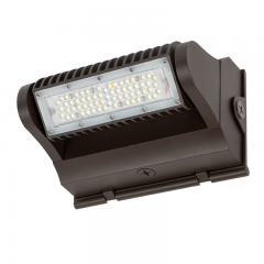 40W Rotatable LED Wall Pack - Bypassable Photocell - 5800 Lumens - 175W MH Equivalent - 5000K