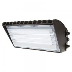 70W Semi Cutoff LED Wall Pack with Photocell - 8,200 Lumens - 320W MH Equivalent - 5000K/4000K