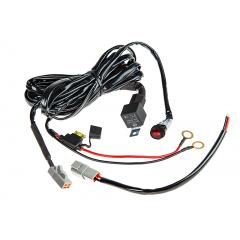 LED Light Wiring Harness with Weatherproof Switch and Relay - Single Channel, ATP Connector